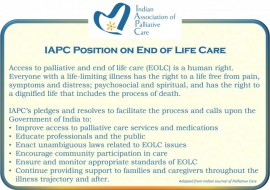 IAPC position statement on end of life care